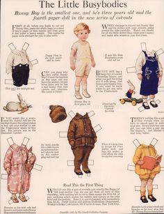 Original Antique Frances Tipton Hunter Paper Dolls Ladies Home Journal 1923 | eBay