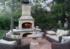 40 Admirable Outdoor Fireplace Designs Ideas To Beautify Your Backyard - Outdoor fireplace design can be innovative in so many ways. Most designers can come up with designs that are easily applicable to the generic masses, . Rustic Outdoor Fireplaces, Outdoor Wood Burning Fireplace, Outdoor Fireplace Patio, Outside Fireplace, Outdoor Fireplace Designs, Deck Fireplace, Fireplace Ideas, Backyard Patio Designs, Patio Ideas