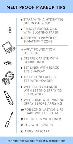 Everything you need to do for a melt-proof makeup look that will last you all day. You're welcome.
