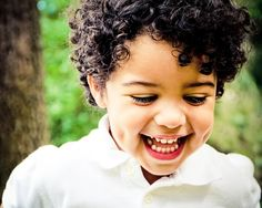 Darling Dimples by Meaghan Browning - Babies & Children Toddlers ( male, adorable, dimples. laughing, toddler, smile, boy, young, curly hair, portrait )