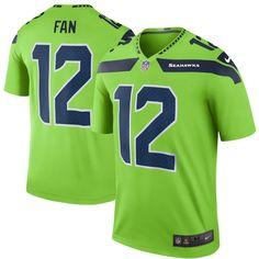 a28799833 Men s Seattle Seahawks 12 Fan Nike Green Color Rush Legend Jersey Seattle  Seahawks