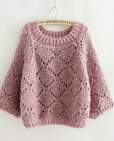 Pullover knitting needles - Crochet Clothing and Accessories Diy Crochet Sweater, Sweater Knitting Patterns, Crochet Clothes, Baby Knitting, Knit Crochet, Knitting Needles, Baby Sweaters, Cable Knit Sweaters, Yarns