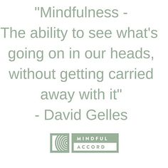 """Our favorite quote we use when discussing mindfulness with someone unfamiliar with the concept.  From @dgelles great book """"Mindful Work: How Meditation Is Changing Business from the Inside Out""""  I'm practicing being aware, moment by moment, of what the the voice in my head is saying.  It never takes a break, and often times it is not helping me.  Start Today!  #mindfuleverymoment #yoga #yogi #instaquote #quotes #quoteoftheday #flow #inspiration #work #mindful #mindfulness #living #stillness"""