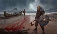 Viking on Scottish shore