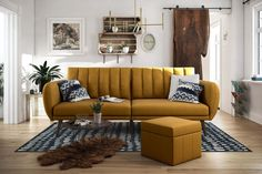 Be embraced by the comfortable cushioning of the Novogratz brittany linen futon. With its ribbed tufted cushioned back, the Novogratz brittany linen futon gives Martin Luther King, Futon Diy, Futon Couch, Sofa Beds, Futon Bedroom, Design Living Room, Living Spaces, Living Rooms, Modern Furniture