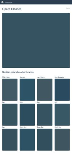 Opera Glasses, Behr. Click the image to see similiar colors by other brands.