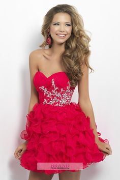 2013 Homecoming Dresses Pink Short/Mini Sweetheart A Line Organza USD 139.00 P7AY9BQX - BrandPromDresses.com
