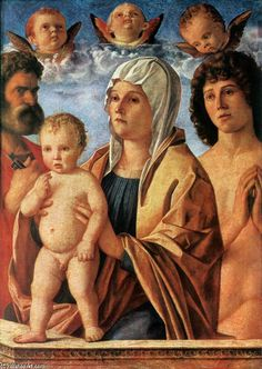 Bellini, Madonna with Child and Saints Peter and Sebastian, Louvre