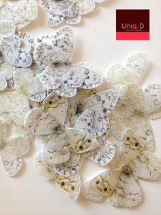 BUY 32 get 3 FREE very large black and white edible butterflies - FREE shipping - Assorted wedding cake toppers by Uniqdots on Etsy. $29.00, via Etsy.