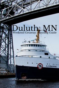 The gateway to the North Shore, Duluth, MN offers a weekend getaway for just about any desire. Hiking or sail by day, shop and dine in the evening or take a fishing excursion or historic tour. Duluth has near endless opportunities to fill a weekend away.