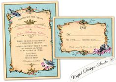 A personal favorite from my Etsy shop https://www.etsy.com/listing/198631959/romantic-birds-wedding-invitation-birds