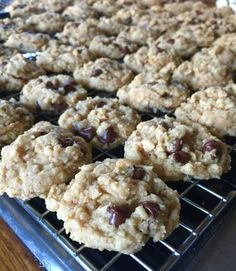 Soft and Chewy Oatmeal Peanut Butter Chocolate Chip Cookies. Low sodium! Add dark chocolate chips to make them yummier