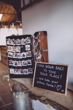 Table Plan using Polaroids of Guests