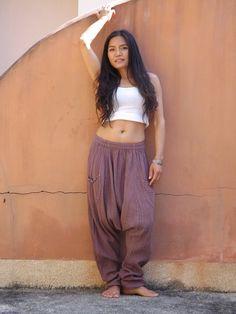 Harem Pants ...Yoga Pants ..Leisure Pants ...Color Dark by Ablaa