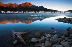 """The LORD gives strength to his people; the LORD blesses his people with peace."" #Psalm 29:11"