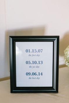 Create a simple and cute timeline of your love for your wedding day! {RUPERT…