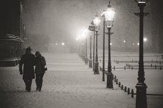 Snow in Dresden
