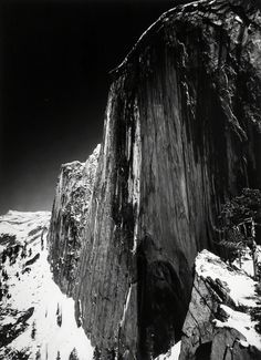 Monolith, the face of Half Dome, Yosemite National Park, 1927 - The Photograph That Made Ansel Adams Famous