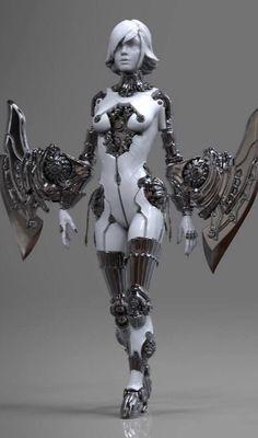 robo angel by Marco-Yolo Plouffe - front (via (Rhubarbes)