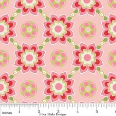 Sugar and Spice Pink Red Flower Fabric by Riley by plumpatchwork, $8.25