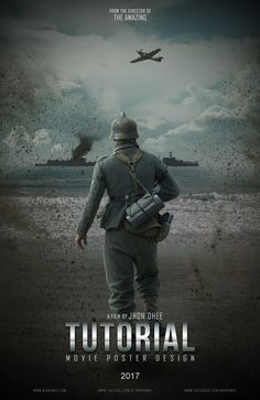 """The movie poster was inspired from a movie scene """"Dunkirk"""". Learn how to create a movie poster with photo manipulation in Photoshop."""
