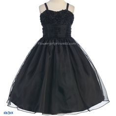 Sweet Kids Black Sequin Mesh Organza Dress Girl 8 Visit store to see price Cute Dresses For Teens, Wedding Dresses For Kids, Cute Summer Dresses, Wedding Ideas, Fall Wedding, Wedding Stuff, Dream Wedding, Organza Flowers, Organza Dress