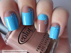 Nail Stories: Flowery Half Moon Mani