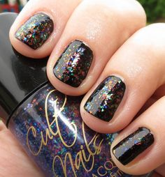 Cult Nails Nail Polish - Unicorn Puke/Clairvoyant over top of Nevermore