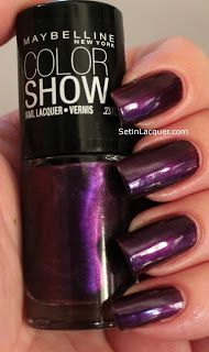 """Maybelline Color Show """"Plum Paradise"""" $1.00 + s/h (pic by setinlacquer.com)"""