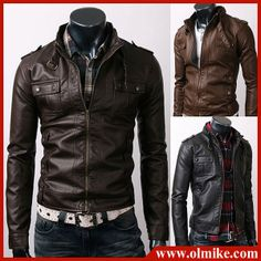 Men's Faux Leather Jacket  $40 Free Ship