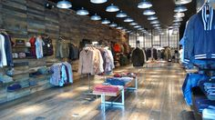 wood wall coverKith shoe store by Cleanroom, Brooklyn store design eco