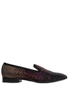 Embellished Suede Loafers