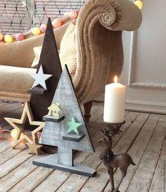 Купить Ёлки - серый, елка, новый год 2016, Новый Год, Декор, из дерева…