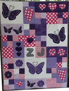 Scrappy Butterfly Baby Quilt | Radosti | Pinterest | Quilt, A ... : butterfly baby quilt pattern - Adamdwight.com