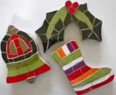 Christmas mosaics available to buy from www.justmosaics.co.uk .