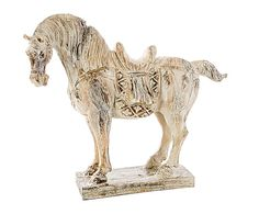 Westwing - Decoratief object Caballo, creme, L 44 cm