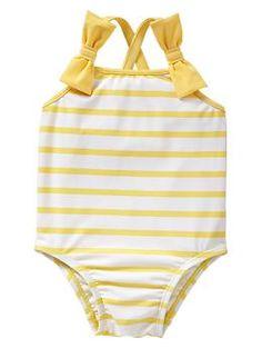 striped bow one-piece   Gap