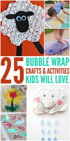 25 Bubble Wrap Crafts and Activities Kids Will Love