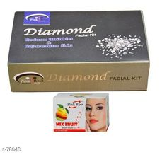 Checkout this latest Masks Product Name: *Pink Root Diamond Facial Kit, Mix Fruit Bleach Cream Pack of 2 * Name: PR-FACIAL-DIAMOND-BLEACH-FRUIT Size: 130 Grams Dimension: (L X B X H) - 15 cm X 10 cm X 6 cm Description: Pink Root Diamond Facial Kit Mix Fruit Bleach Cream Pack of 2 Country of Origin: India Easy Returns Available In Case Of Any Issue   Catalog Rating: ★4 (310)  Catalog Name: Beauty Products For You CatalogID_7877 C170-SC2014 Code: 322-78043-534