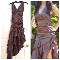 Linda Bernell Satin Evening & Prom Dress
