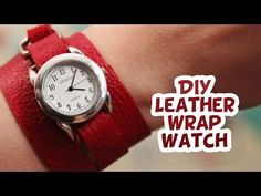 DIY Leather Wrap Watch | EASY How to - Whitney Sews - YouTube