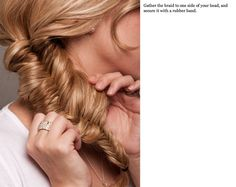 I saw the cutest fishtail up-do the other day browsing the web.  Thought I'd share.  These images are not my own.  They come from teenvogue. Pretty huh?!  I'm going to have to try this soon.  It looks a little confusing to me but the instructions seem simple enough.  And you never know how hard something is until you try it.  Life has taught me that...