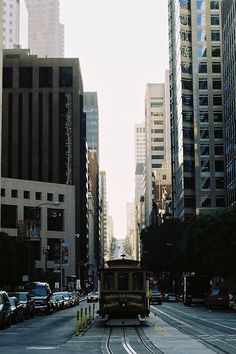 California Street, San Francisco.  I used to live in Swanson's Residence Club, at the top of the hill (California Street and Powell), kitty cornered from the Fairmont Hotel.