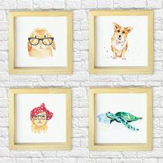 """""""Atención amantes de los animales!  Disponibles en nuestro #OnlineShop ▶▶▶ www.lakermesse.com.ar ◀◀◀ #cuadrosdecorativos #Animales #diseño # ilustraciones…"""""""