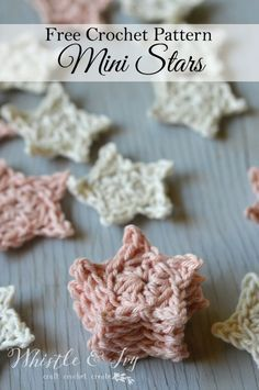 Free Crochet Pattern - Mini Crochet Stars   Use these simple stars for a variety of crochet projects. Very simple to make!