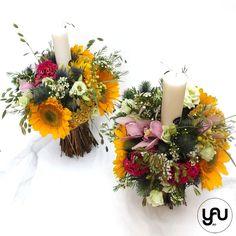 lumanari-cununie-floarea-soarelui-_-yauconcept-_-elenatoader-3 Wedding Flowers, Concept, Candles, Table Decorations, Popular, Business, Design, Art, Craft Art