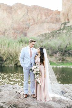 Something Blush, Something Blue: A Pantone-Inspired Wedding Palette - Rose Quartz & Serenity  - from InStyle.com