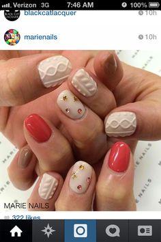Red and white Cute Nails, Pretty Nails, My Nails, Colorful Nail Designs, Beautiful Nail Designs, Nail Polish Designs, Nail Art Designs, Posh Nails, Kawaii Nails