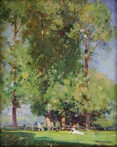 View Leafy June by Arthur Streeton on artnet. Browse upcoming and past auction lots by Arthur Streeton. Impressionist Landscape, Impressionist Paintings, Abstract Landscape, Landscape Paintings, Tree Paintings, Australian Painting, Australian Artists, Watercolor Trees, Tree Art