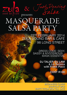 Masquerade Salsa Party!! Join the event: https://www.facebook.com/events/258288974339157/